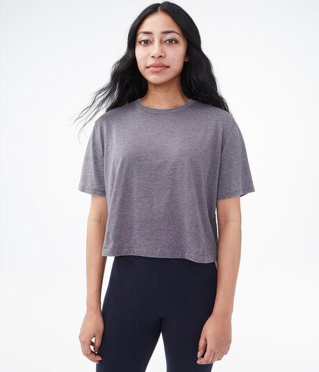 Burnout Cropped Boxy Crew Tee