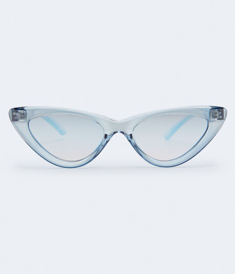 Cateye Mirrored Sunglasses***