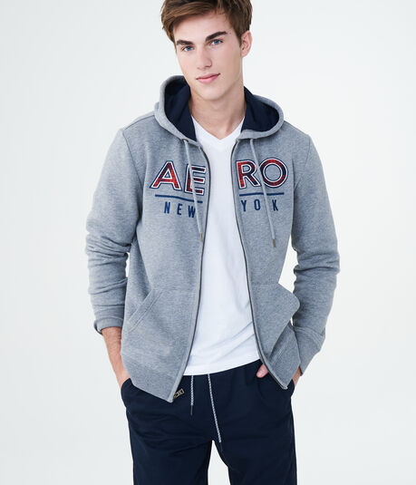 Plaid Aero New York Full-Zip Hoodie