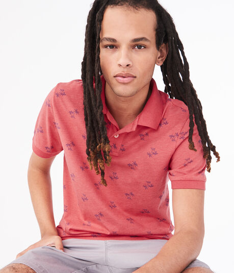 Palm Tree Jersey Polo