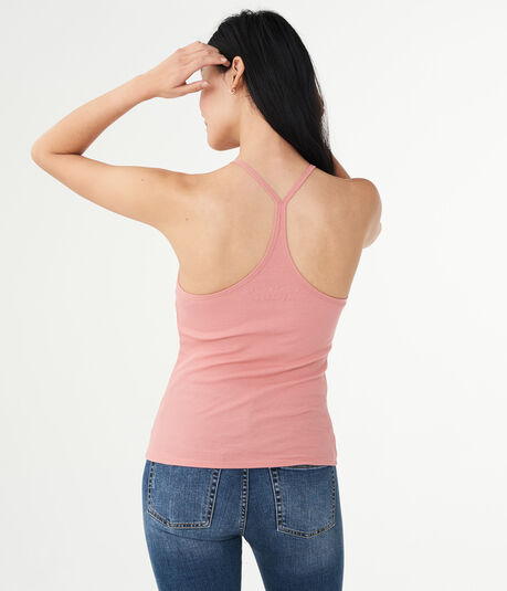 Solid Lace-Front Ribbed Cami