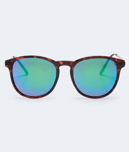 Round Tortoisehell Mirrored Sunglasses***