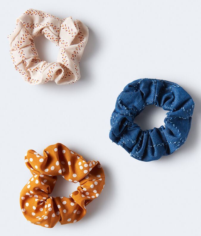 Polka Dot Scrunchie 3-Pack