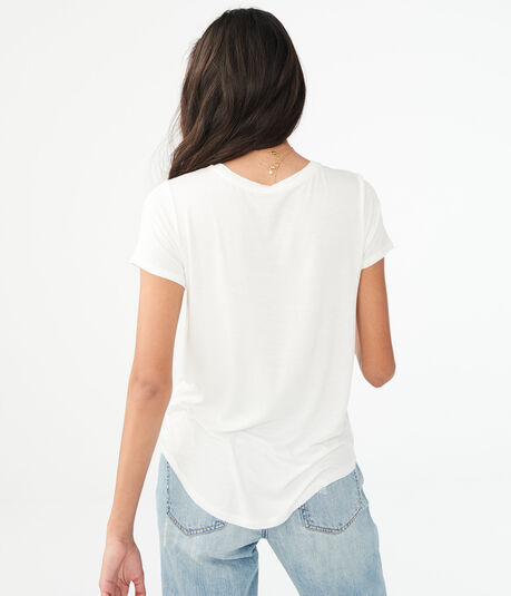 Seriously Soft Floral Embroidered Crew Tee