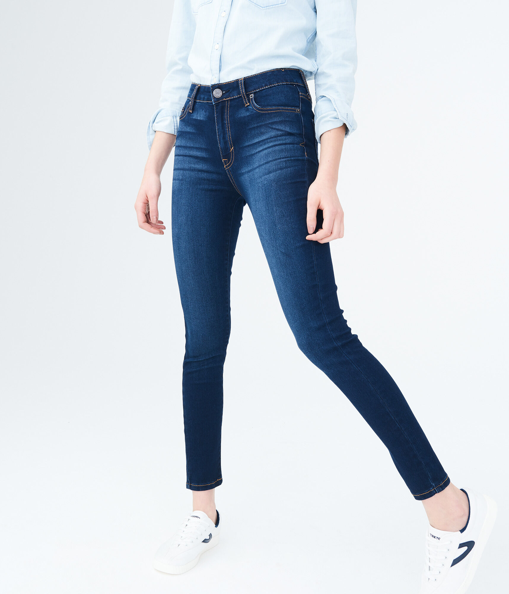 Waisted Stretch High JeansAeropostale Dark Wash kiTOXZuP
