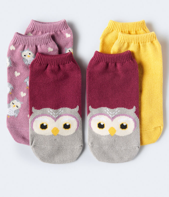 Owls Ankle Sock 3-Pack