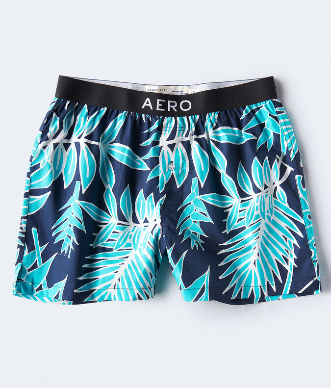 Tropical Leaf Woven Boxers