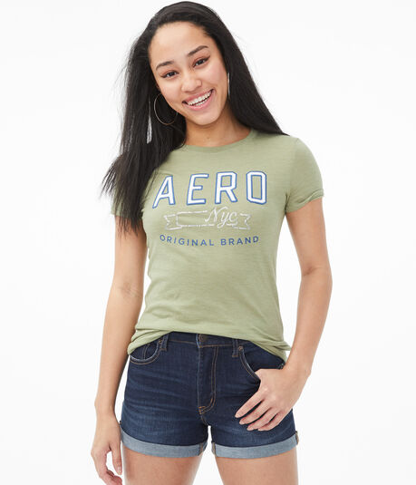 Aero NYC Sequin Graphic Tee