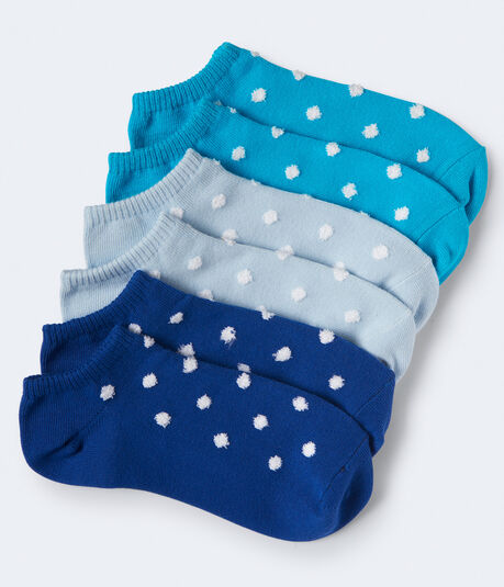 3-Pack Fuzzy Dot Ankle Socks