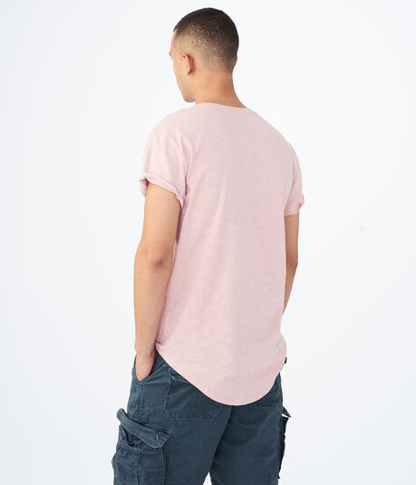Solid Longline Pocket Tee