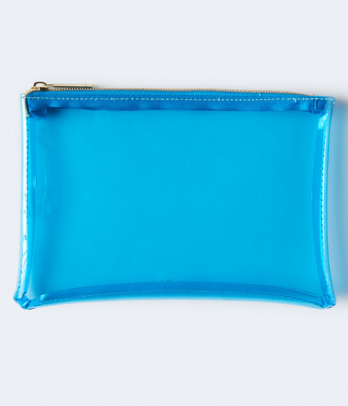 Clear Colored Zip Pouch