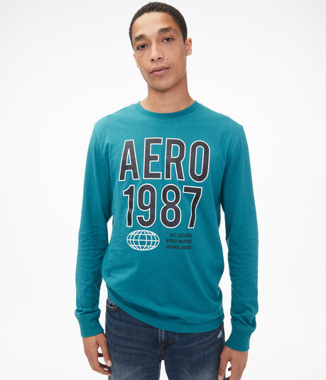 Long Sleeve Block Aero 1987 Graphic Tee