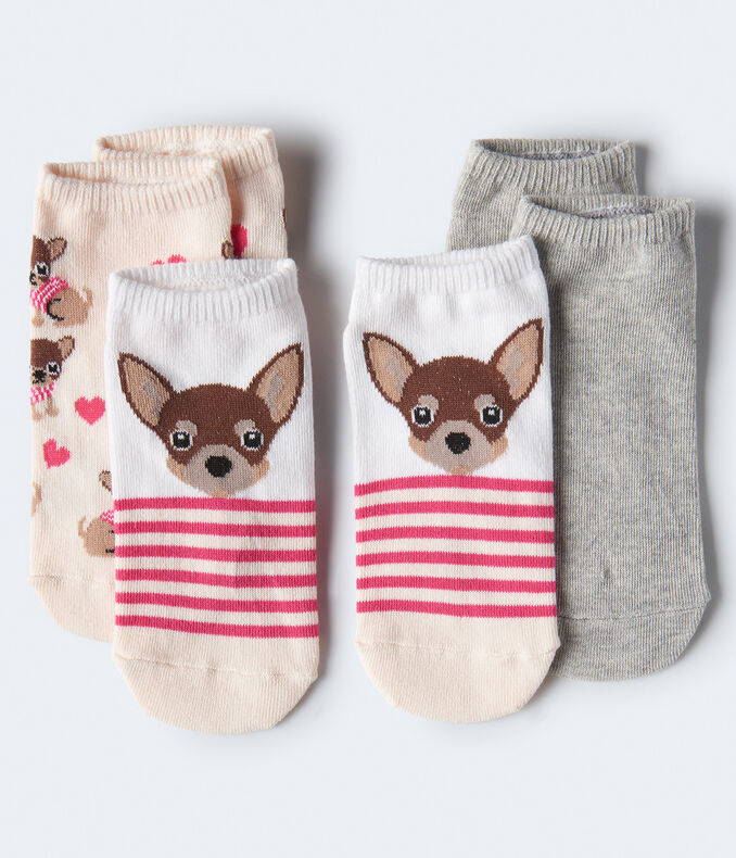 Chihuahua Ankle Sock 3-Pack