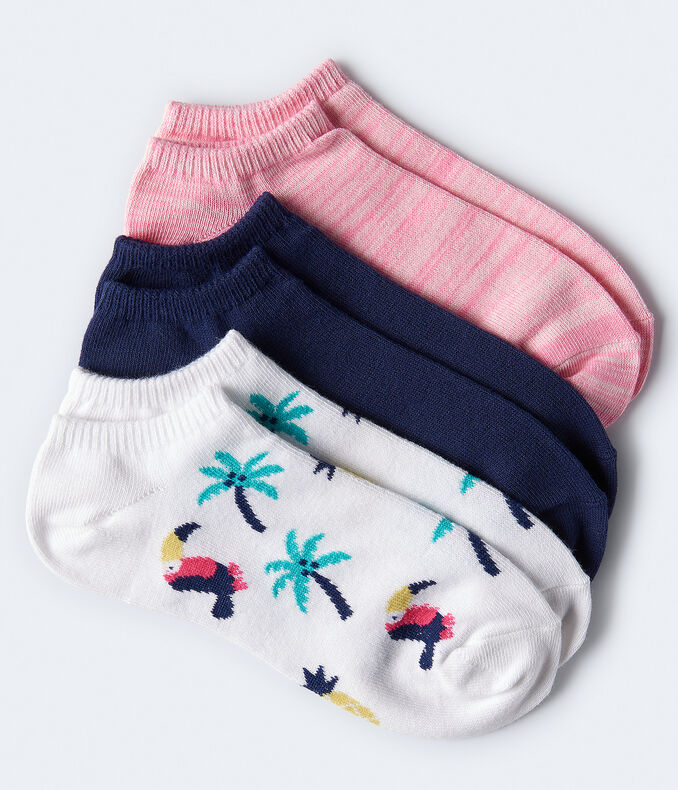 Tropical Toucan Ankle Sock 3-Pack***