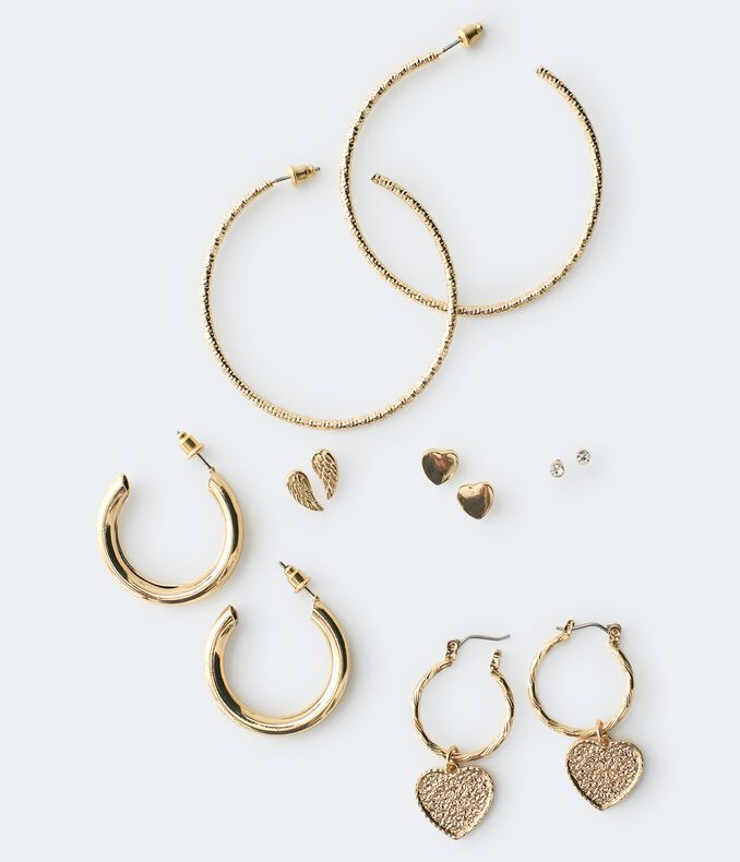 Hoop & Heart Earring 6-Pack