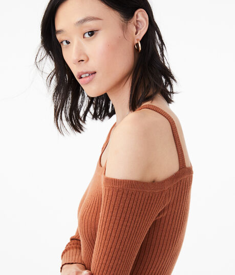 Long Sleeve Ribbed One-Shoulder Bodycon Top