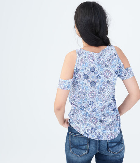 Seriously Soft Floral Cold-Shoulder Tee