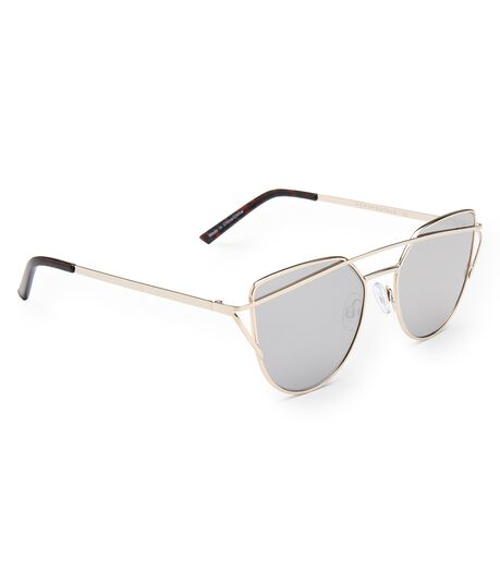 Geometric Metal Bar Sunglasses