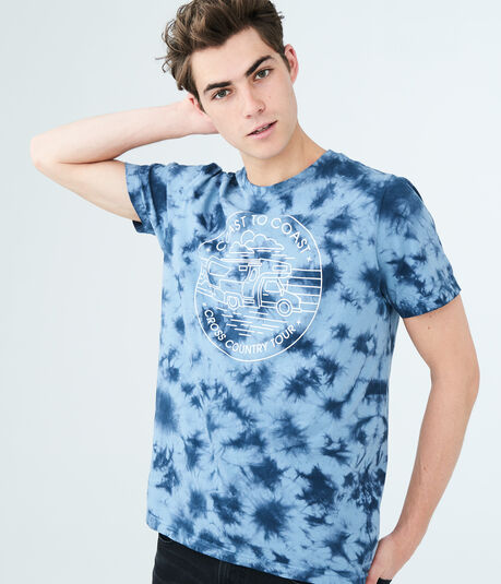 Cross Country Tie-Dye Graphic Tee
