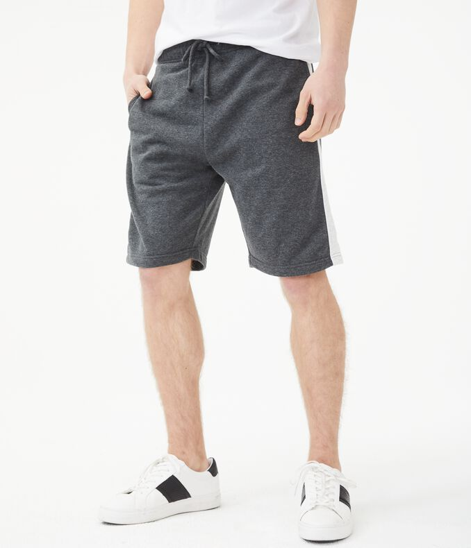 Contrast Stripe Fleece Shorts