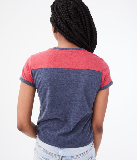 Seriously Soft 87 Ringer Graphic Girl Tee