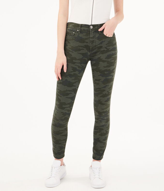 Seriously Stretchy High Rise Camo Jegging by Aeropostale