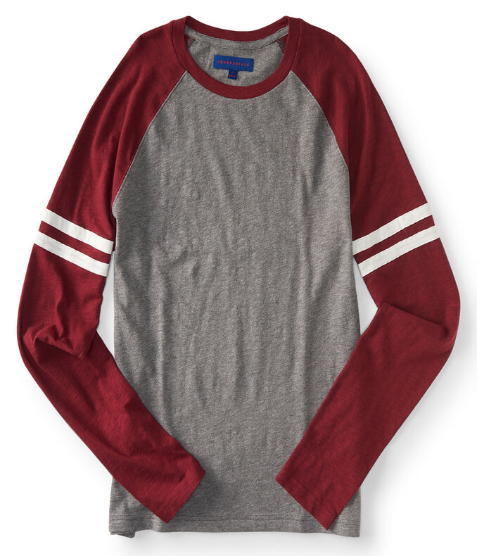 Long Sleeve Striped Raglan Tee