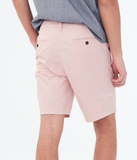 Small Dot Flat-Front Shorts