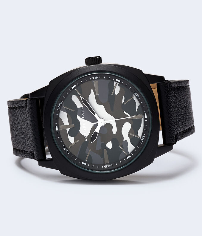 Camo Faux Leather Watch