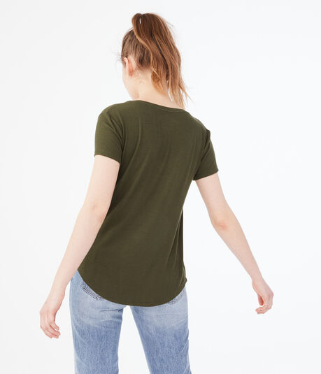 Seriously Soft Ribbed V-Neck Tee