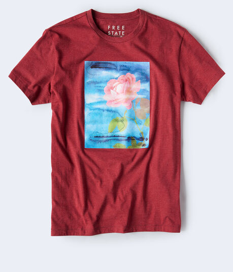 Free State Watercolor Rose Graphic Tee