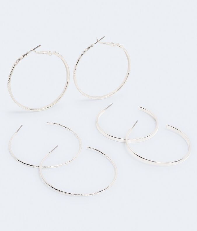 Textured Hoop Earring 3-Pack