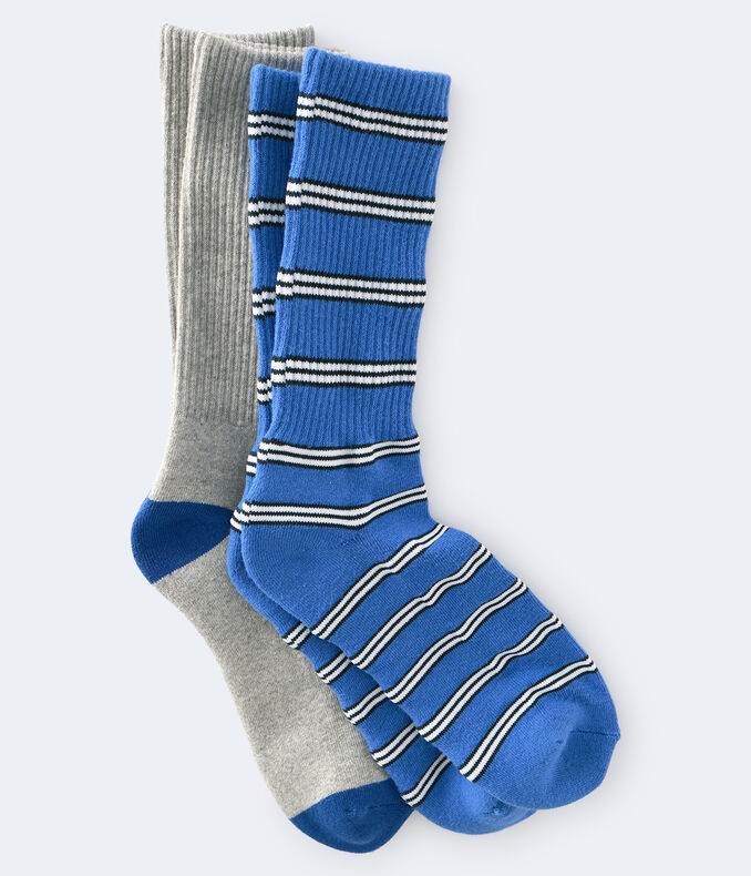 Stripe & Solid Crew Sock 2-Pack