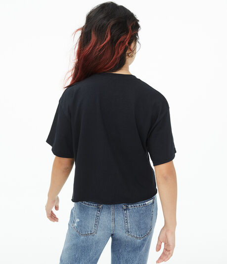 Def Leppard Cropped Graphic Tee