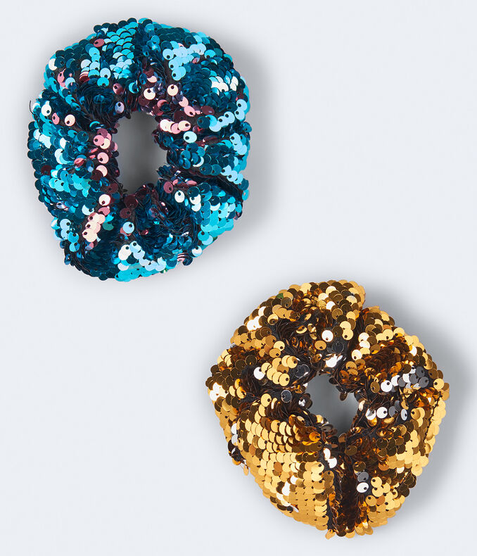 Sequined Scrunchie 2-Pack
