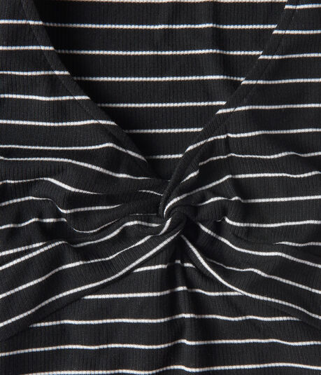 Twist-Front Striped Top