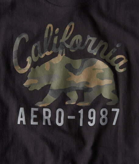 California Camo Bear Graphic Tee
