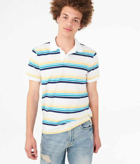 Retro Stripe Jersey Polo