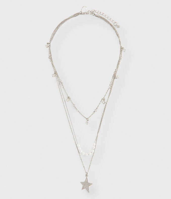 Pavé Star Short-Strand Necklace