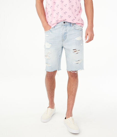 Loose Denim Cutoff Shorts