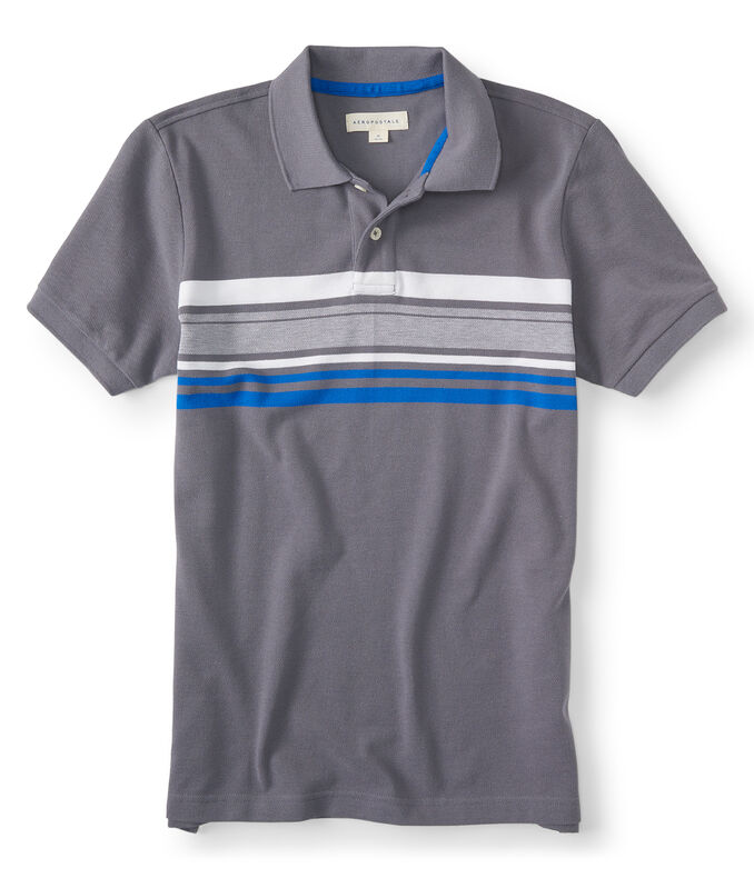 Bar Stripe Pique Polo