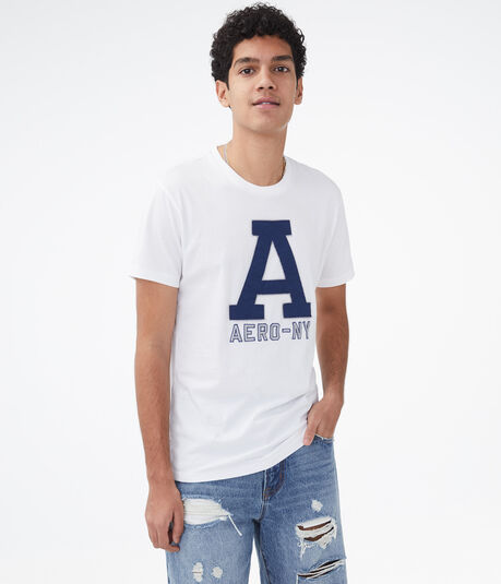 Oversized Letter Logo Appliqué Graphic Tee