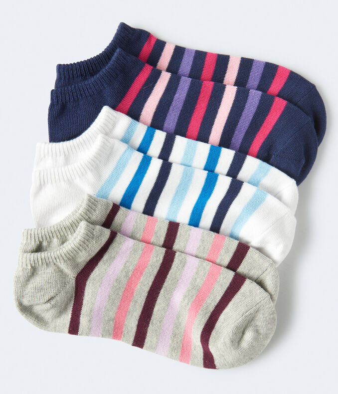 Thick Stripe Ankle Sock 3-Pack