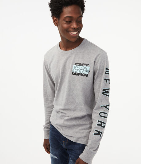 Long Sleeve East Coast Graphic Tee
