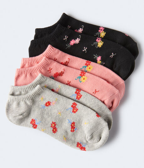 Ditsy Floral Ankle Sock 3-Pack