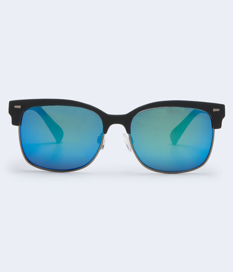 Matte-Tip Mirrored Clubmax Sunglasses