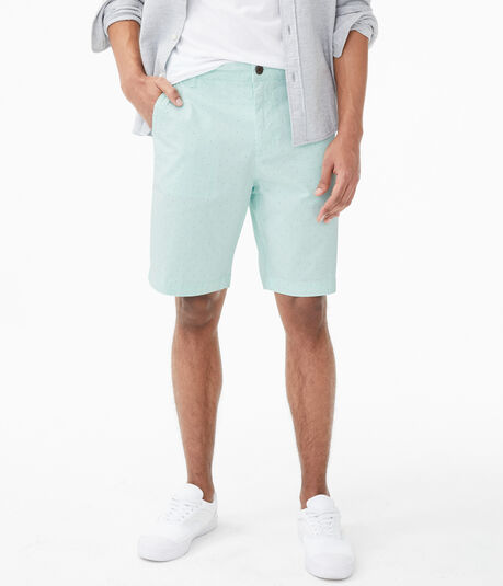 "Mini Dot Classic 9.5"" Stretch Twill Shorts"