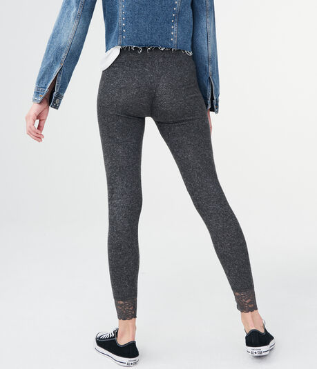 LLD Solid Lace-Ankle Leggings