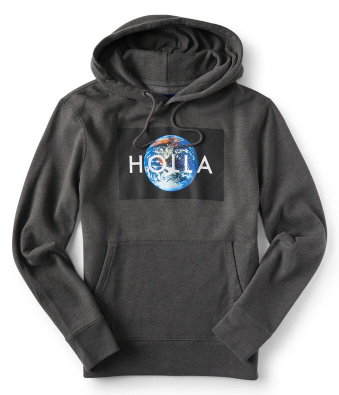 Holla World Pullover Hoodie