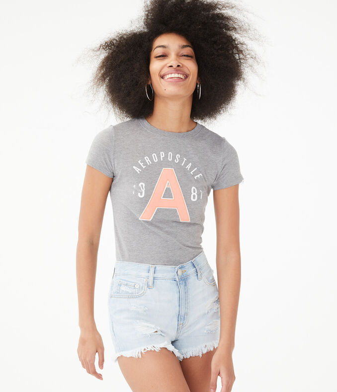 Large Letter Logo Graphic Tee